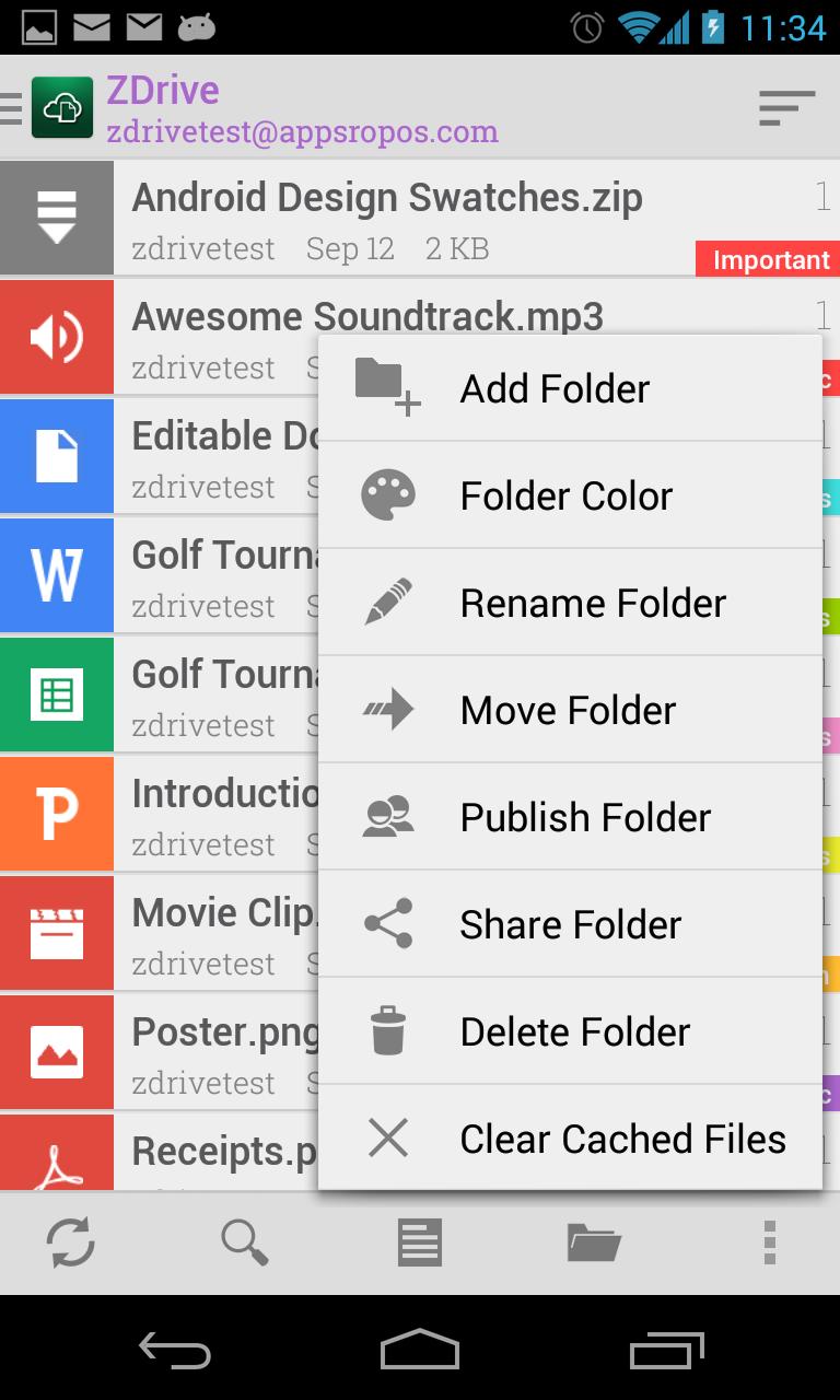 Zimbra org: ZDrive: Zimbra Cloud Drive