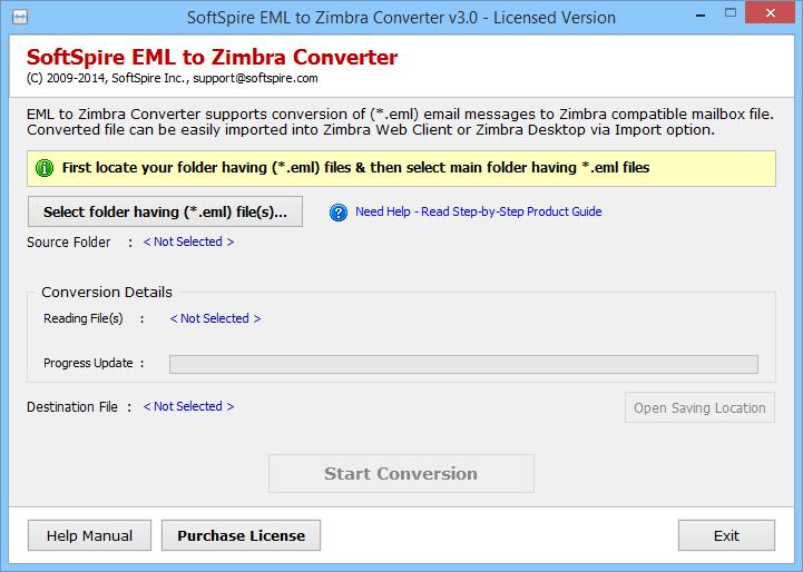 Zimbra org: Import Thunderbird emails to Zimbra