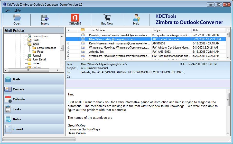 Zimbra org: Zimbra to Outlook Converter Free Tool to Export